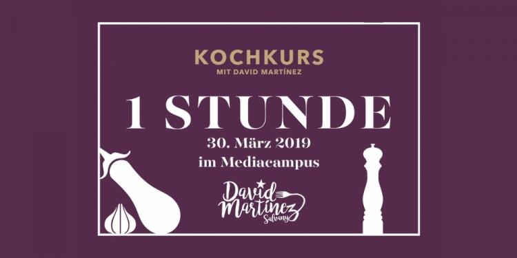 30. März 2019 - 1 Stunde-Kochkurs mit David Martínez