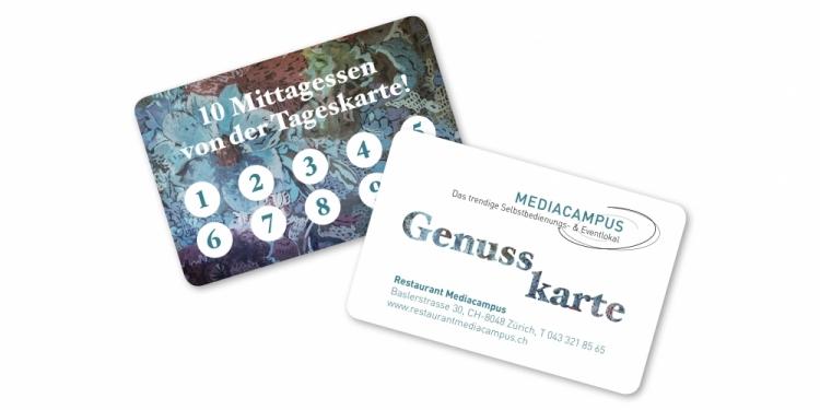 Die Mediacampus Genusskarte