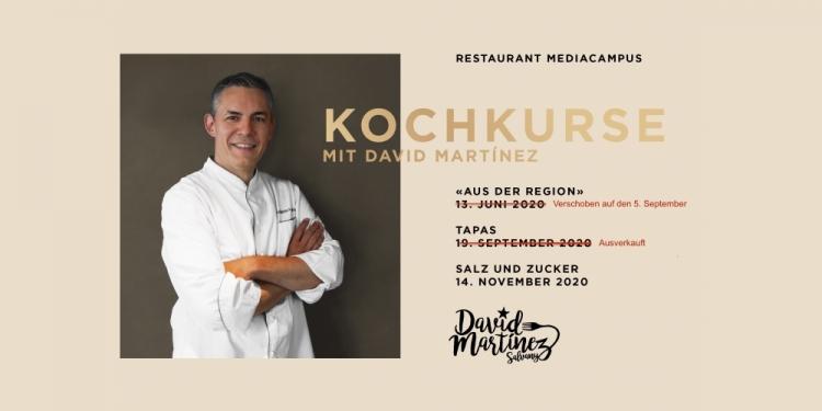 Ausverkauft 14. November 2020 - Salz & Zucker - Kochkurs mit David Martínez